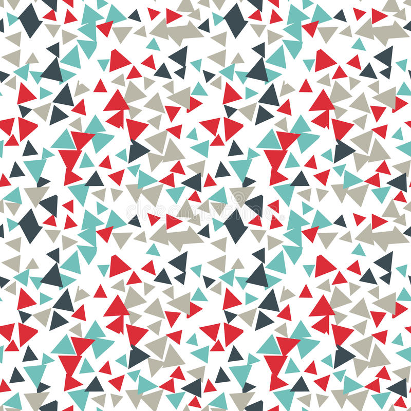 Vector pattern with random triangles in various colors and sizes. Modern background with simple geometric shapes. stock illustration