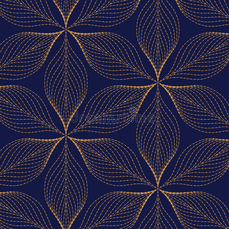 Vector pattern, repeating grunge line of abstract flower or leaves. vector illustration