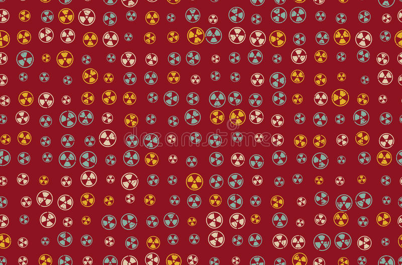 Vector Pattern 60s Seamless Background With Nuclear Icon