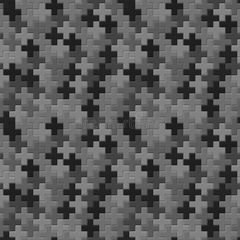 Download Vector Pattern - Seamless Gray Crosses Texture Stock Vector - Illustration of pattern, graphic: 33156254