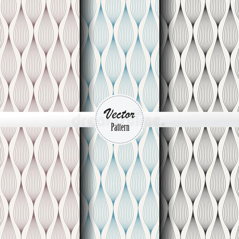 Vector pattern set of abstract background of garland in different colors. Vector clean design for wallpaper, printing, fabric vector illustration