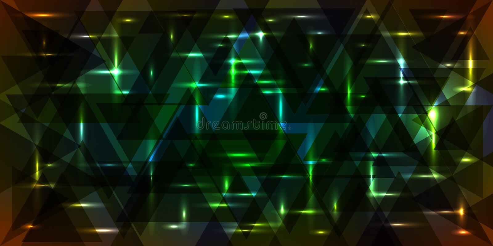 Vector pattern of shimmering starry sky in green and orange colo. Rs. For decoration of holidays and decorative interior royalty free illustration