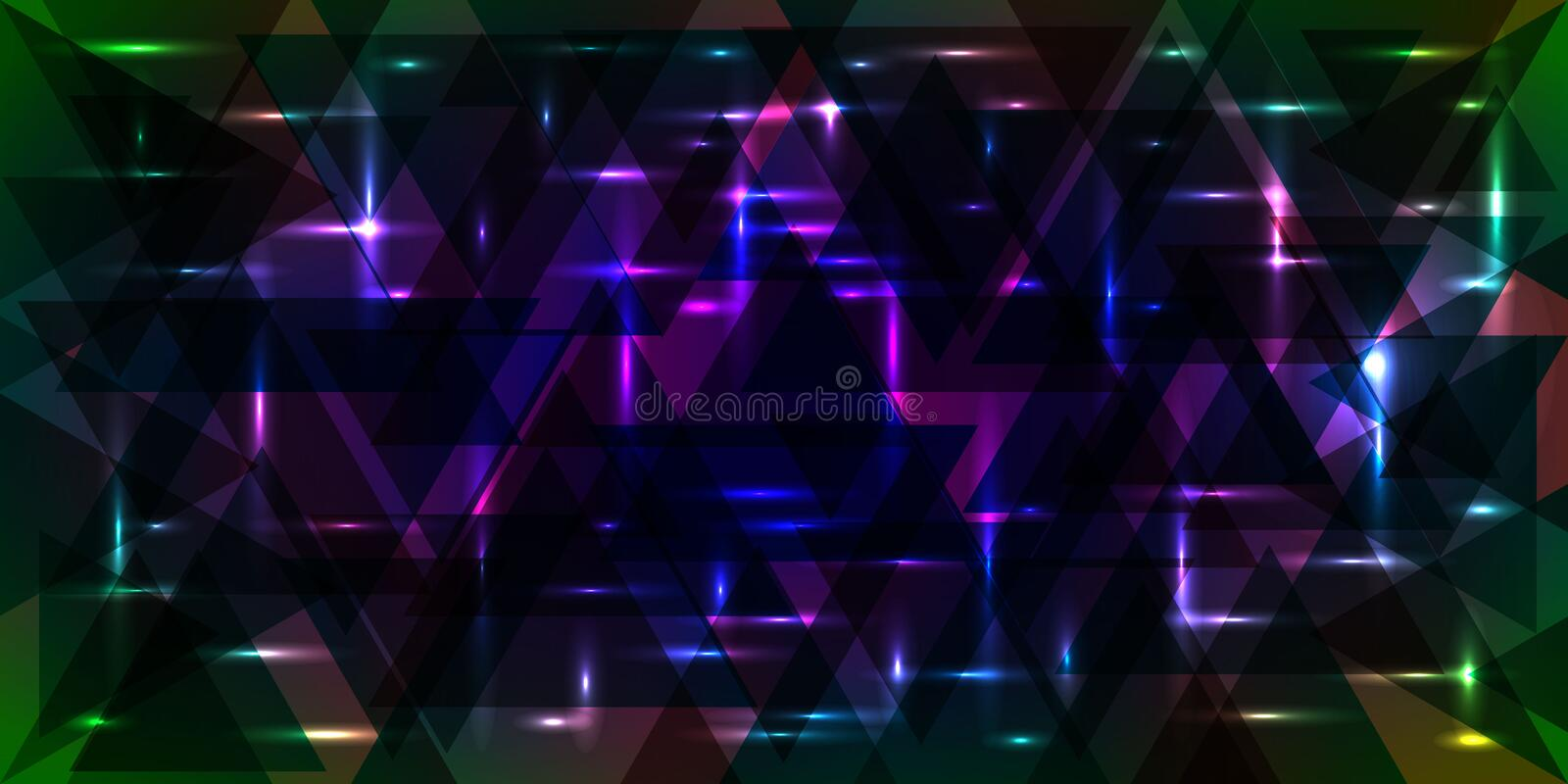 Vector pattern of shimmering starry sky in green and purple colo. Rs. For decoration of holidays and decorative interior vector illustration