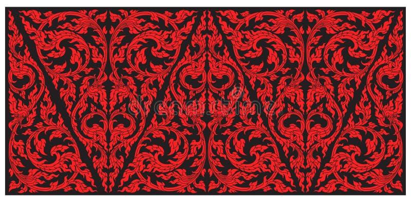 Vector pattern thai tradition stylish. Illustrator stock illustration