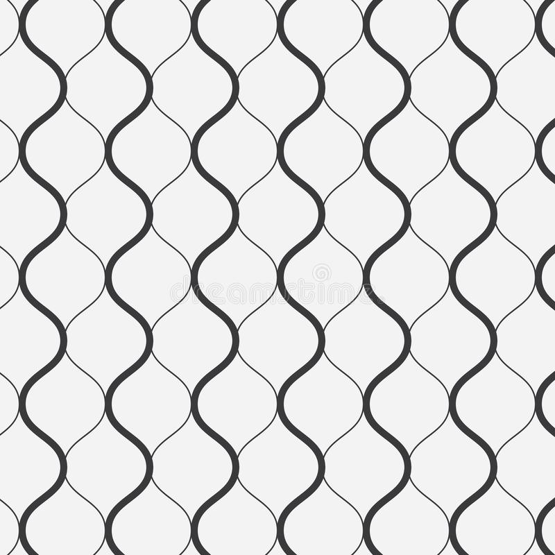 Vector pattern, thick and thin line wavy,stylish retro pattern background. Pattern is on swatches panel vector illustration