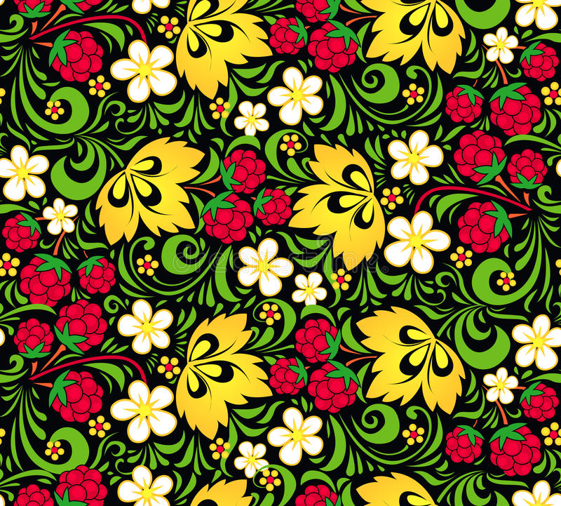 Free Vector Pattern Traditional Russian Style Hohloma Stock Photo - 30688150