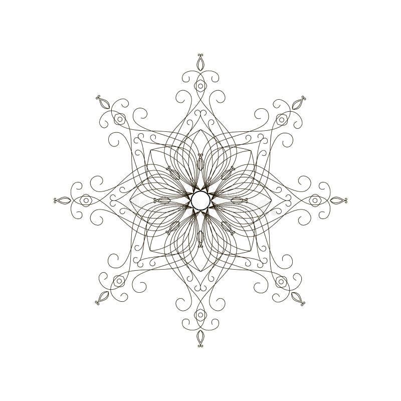 Vector pattern. Unplugged. Mandala. Isolated jpg eps royalty free illustration