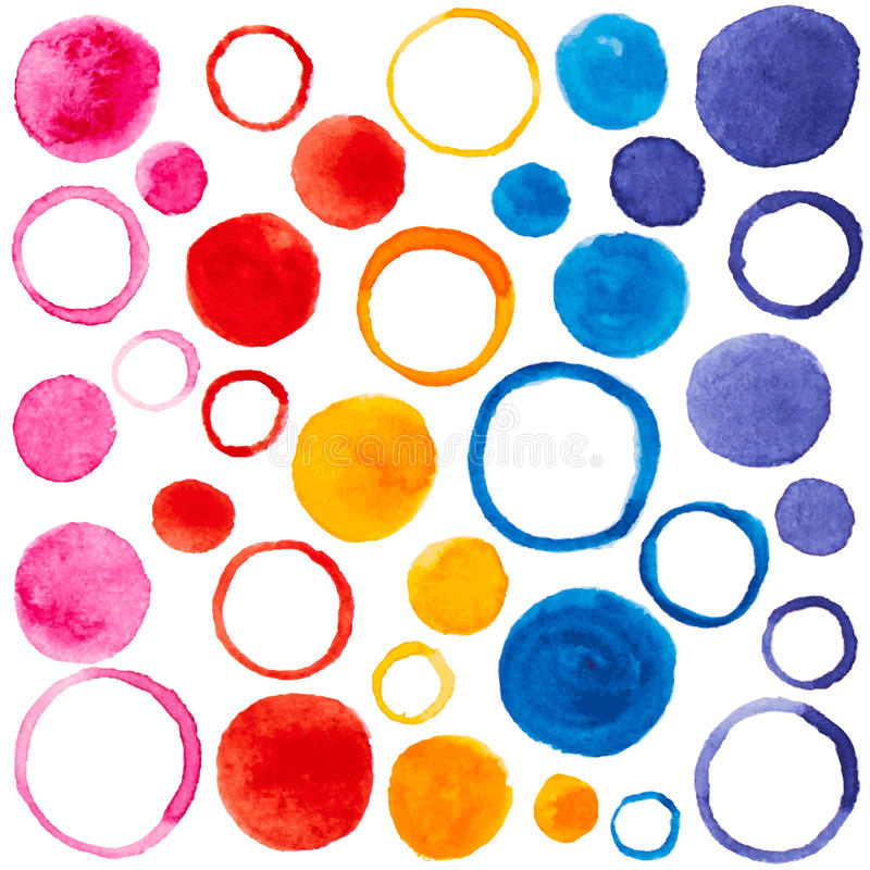 Vector pattern with watercolor bubbles for design royalty free illustration