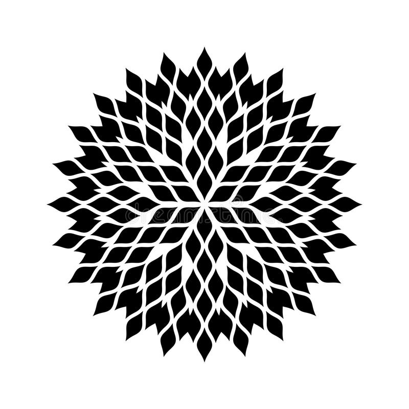 Mandala Floral Pattern Black And White Stock Vector