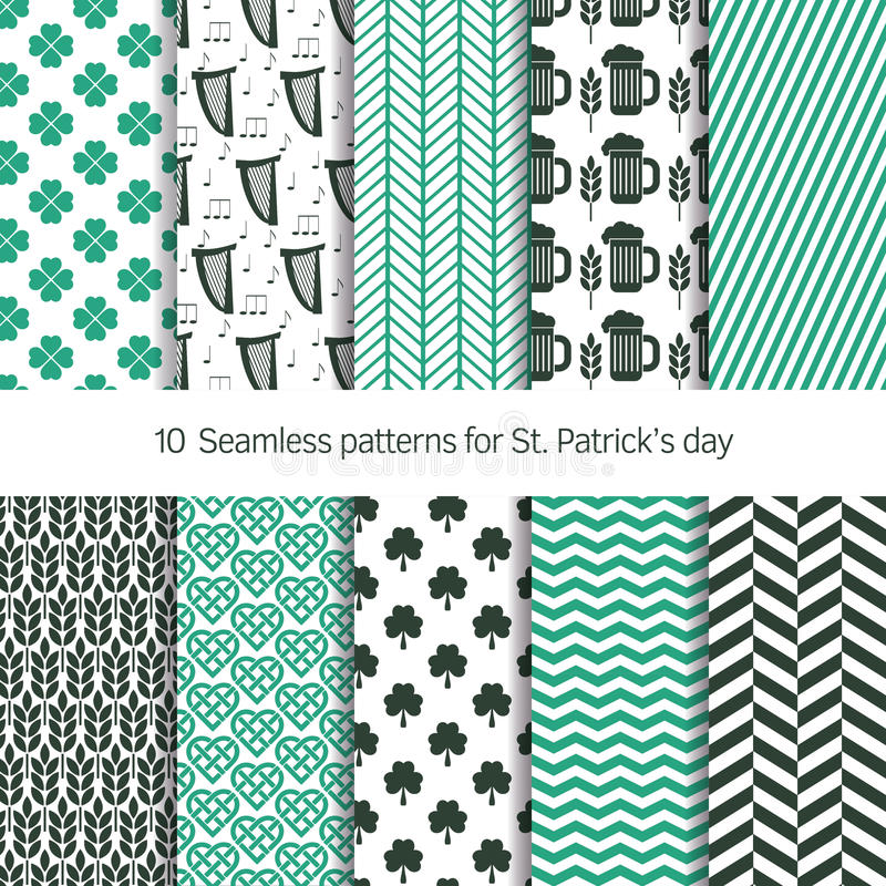 Vector patterns for St. Patrick's day vector illustration