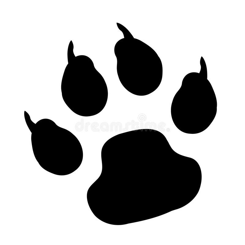 vector paw print stock vector illustration of claw sequence 8421739 rh dreamstime com vector paw print image vector paw print trail