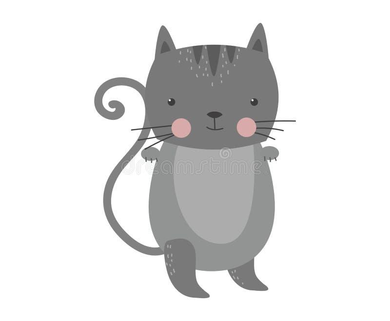 Vector peludo lindo del animal del gato ilustración del vector