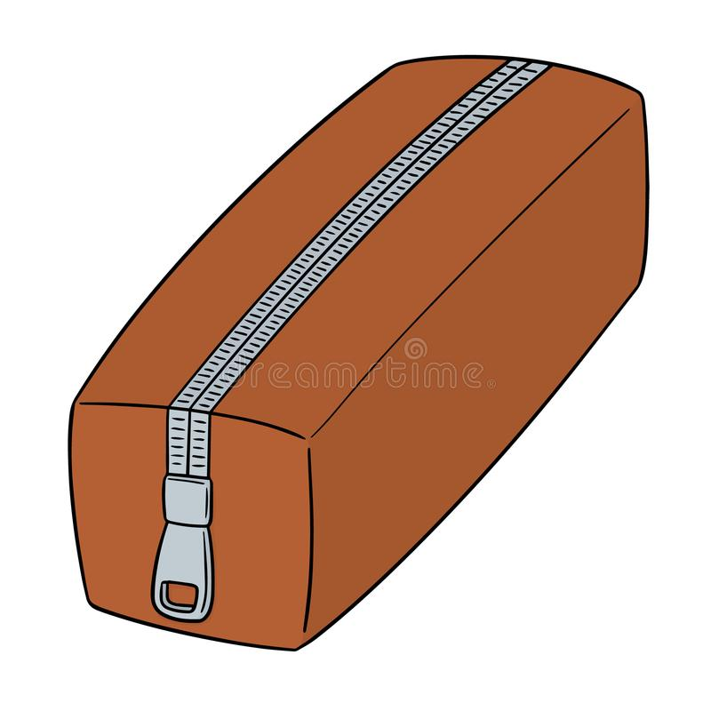 Vector of pencil case. Hand drawn cartoon, doodle illustration stock illustration