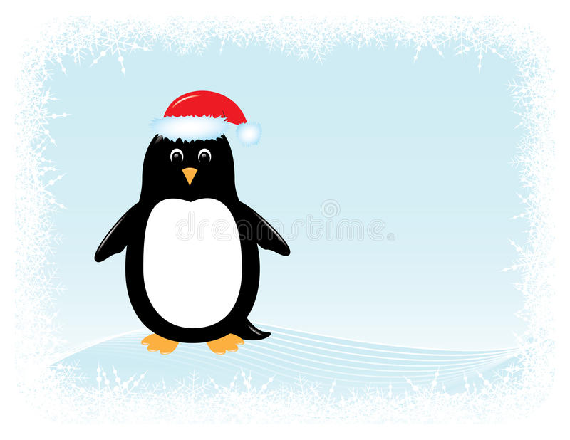 Vector penguin greeting card vector illustration