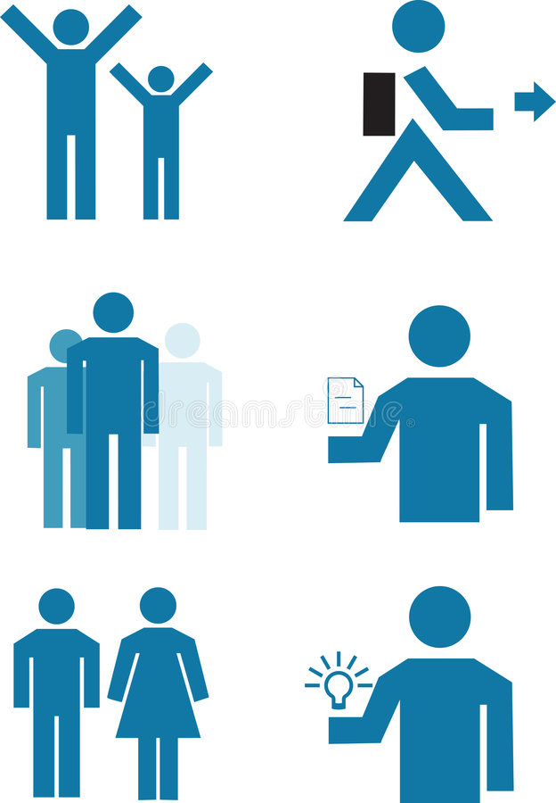 Vector People Royalty Free Stock Images