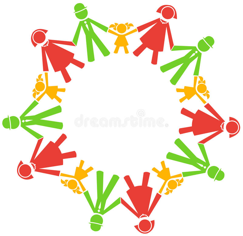 Vector people hold hands vector illustration