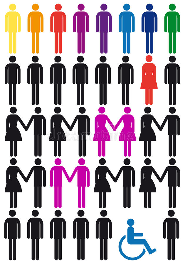 Free Vector People Icon Set Stock Image - 23417501