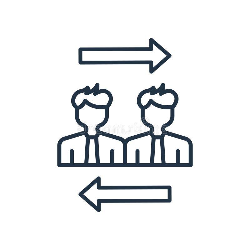 Vector personal del icono del intercambio aislado en el fondo blanco, muestra personal del intercambio ilustración del vector