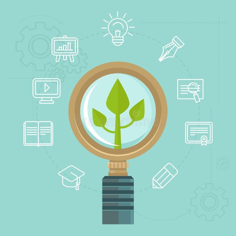 Vector persoonlijk ontwikkelingsconcept stock illustratie