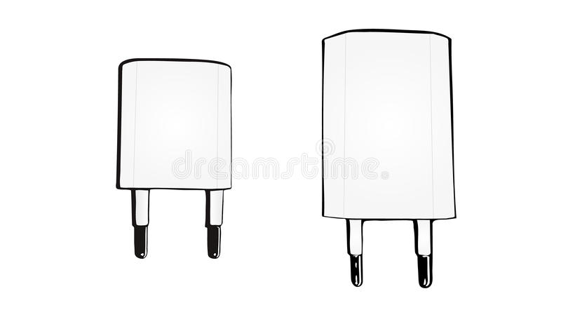 Vector Phone Charger. royalty free illustration