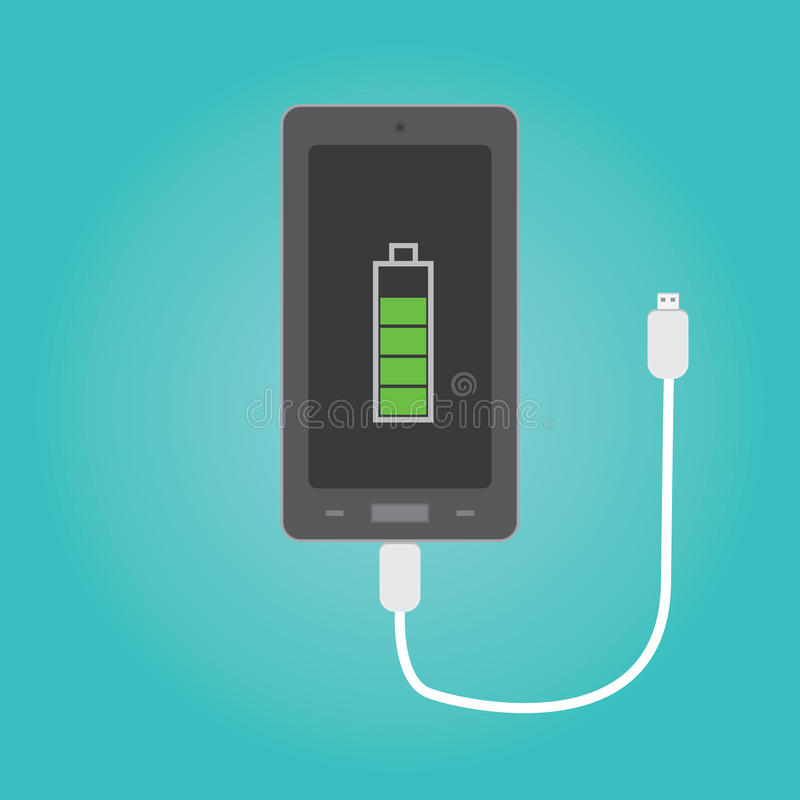 Vector of phone charging royalty free illustration