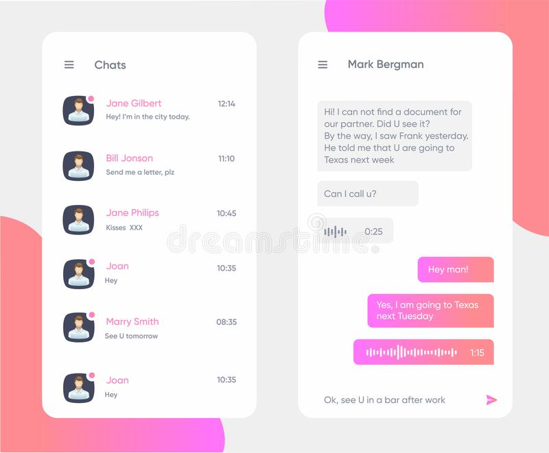 Chat Interface Application With Dialogue Window  Clean