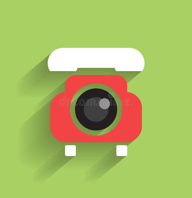 Vector Phone Flat Icon Royalty Free Stock Image