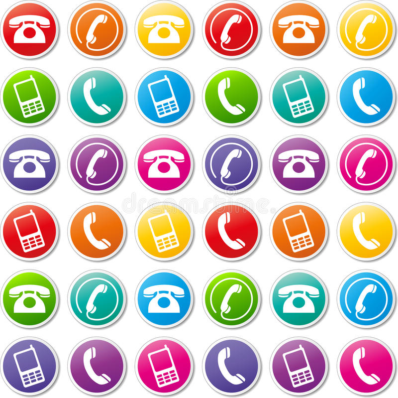 Vector phone icons royalty free illustration