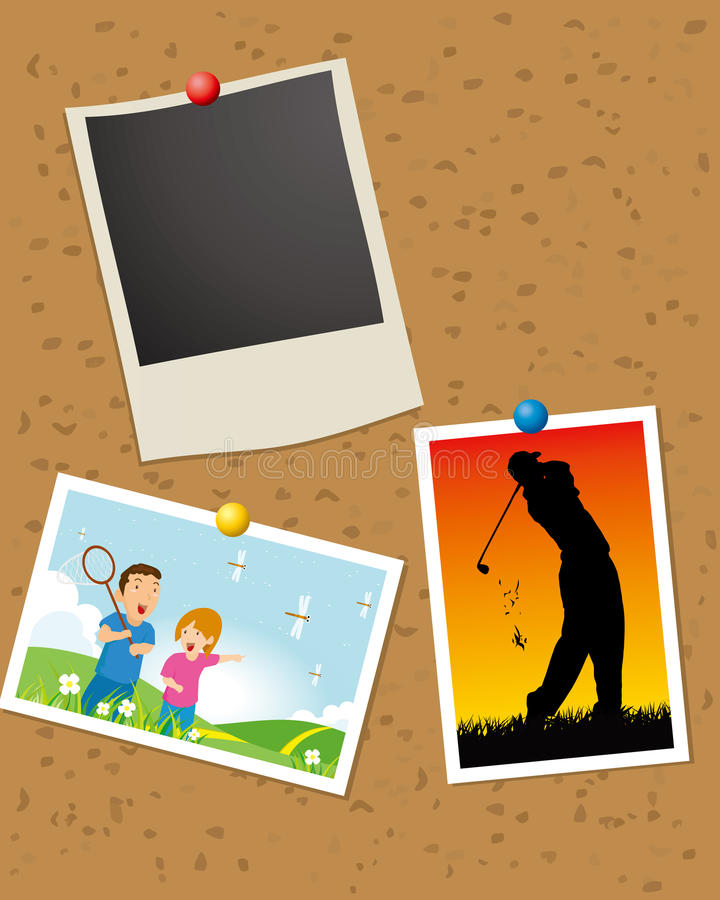Vector photo display stock illustration