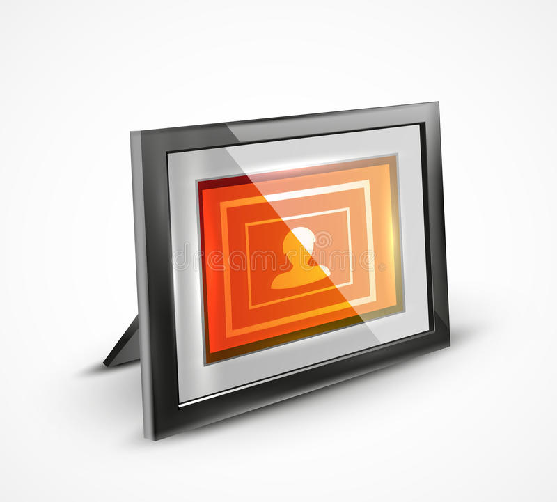 Vector photo frame 3d icon royalty free illustration