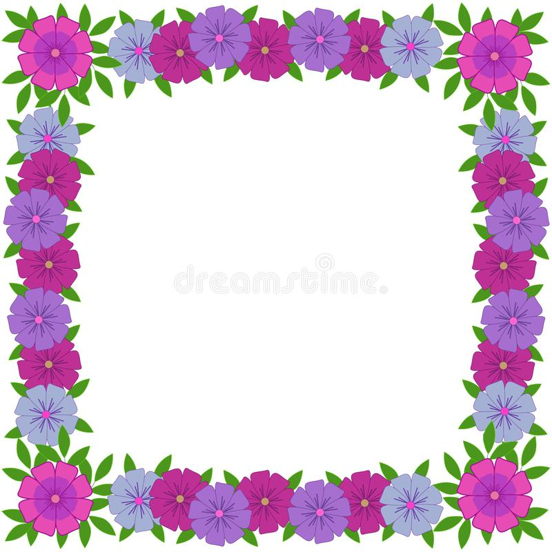Vector photo frame from floral ornament for disign stock photos