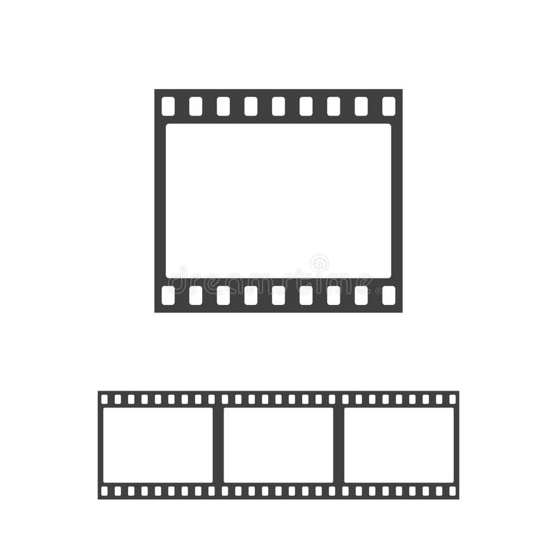 Vector photo frame icon. Film strip seamless royalty free illustration