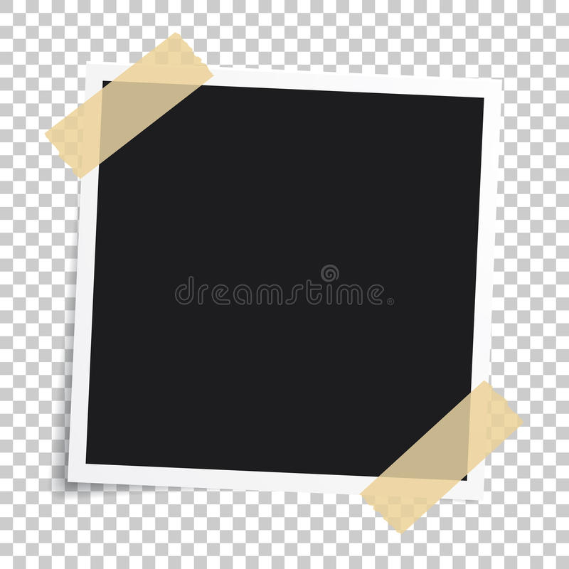 Vector photo frame.Set of realistic paper instant photograph.Template design. vector illustration