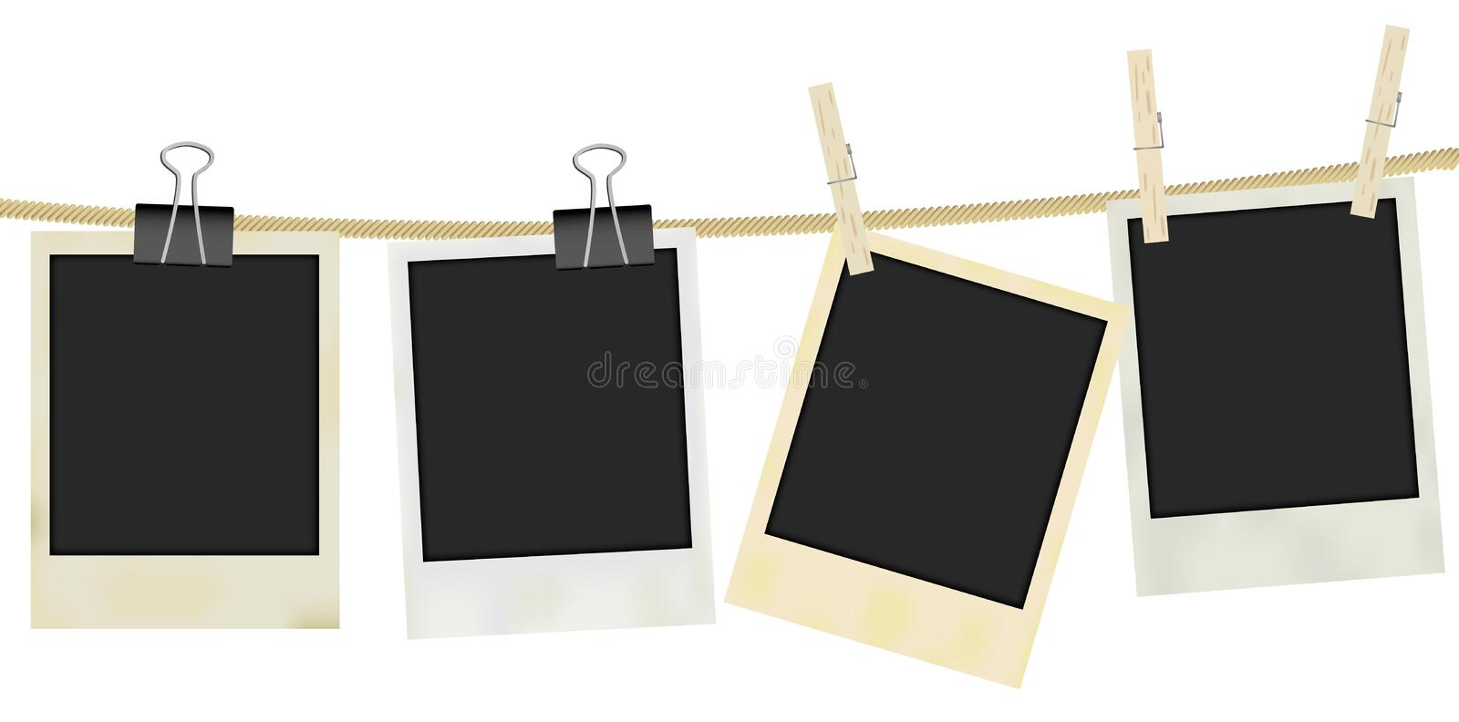 Vector Photo Frames stock illustration
