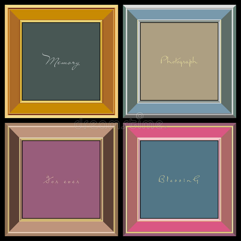 Vector photo frames (vector) royalty free stock photography