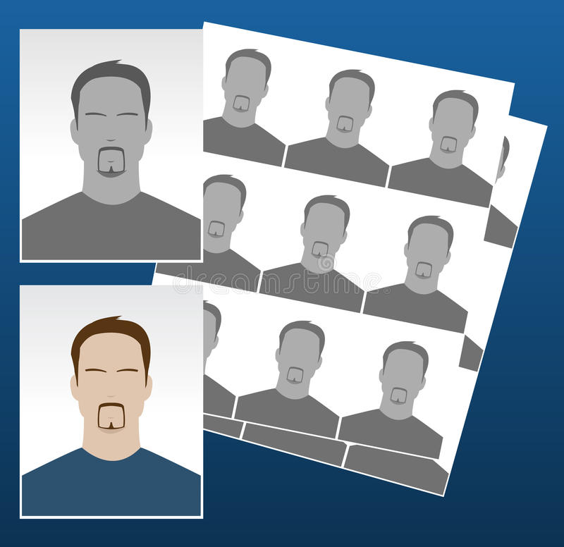 Download Vector Photo Icons With Faces Stock Vector - Illustration of person, border: 13750077