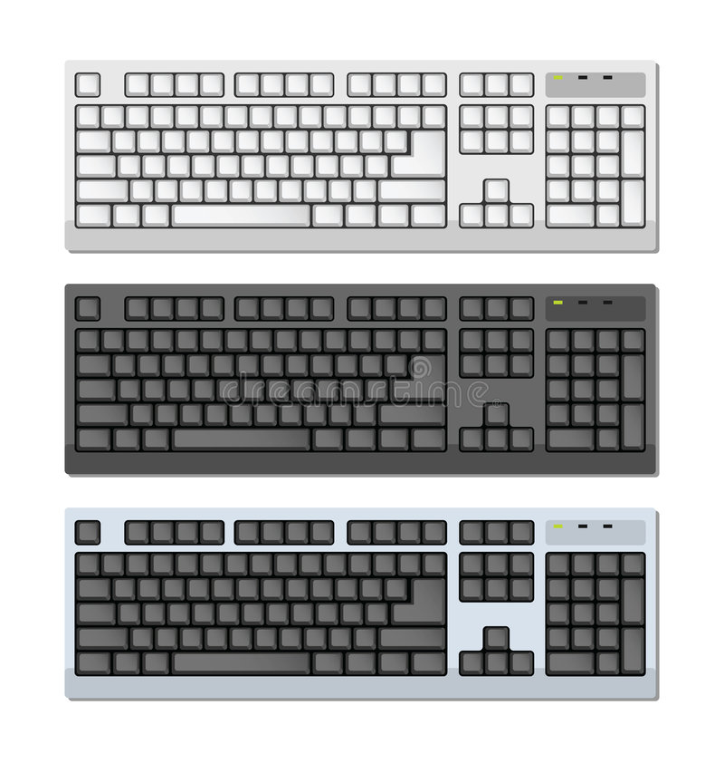 Download Vector Photo-realistic Keyboards Set Stock Vector - Image: 9145176