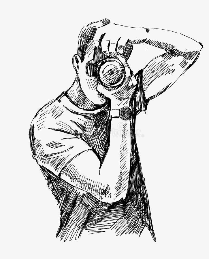 Vector Photographer royalty free illustration