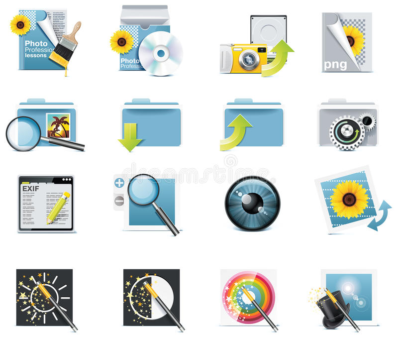 Download Vector Photography Icons. Part 5 Stock Vector - Image: 14795213