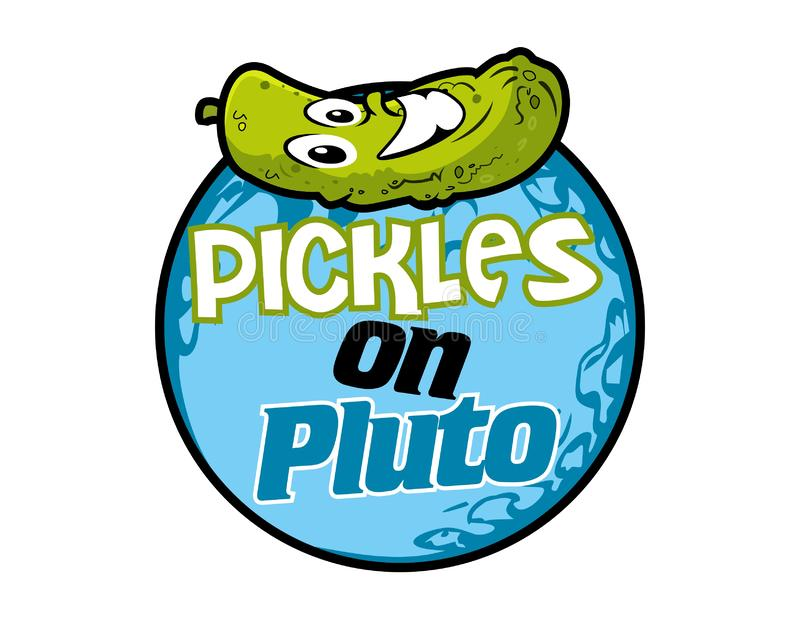 Vector - pickles on pluto royalty free illustration