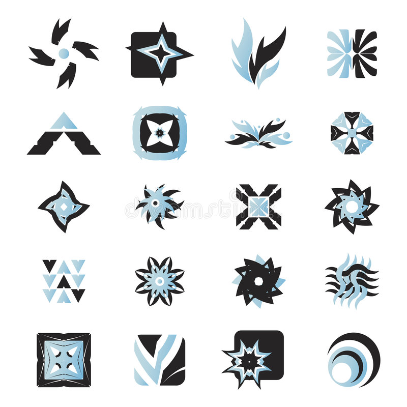 Vector pictogrammen - elementen 25 stock illustratie