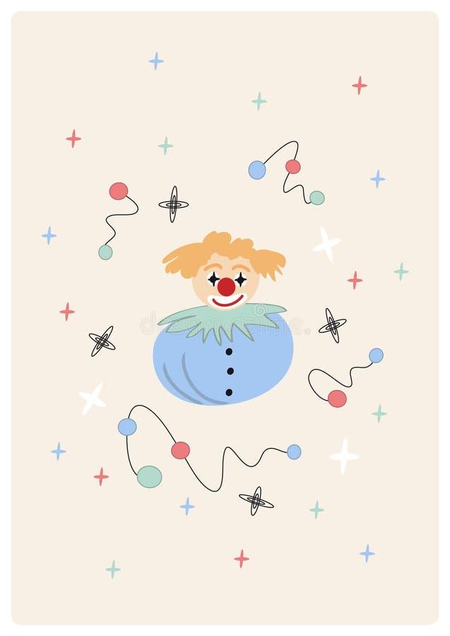 Download Vector picture with clown stock vector. Image of kindergarten - 7748447