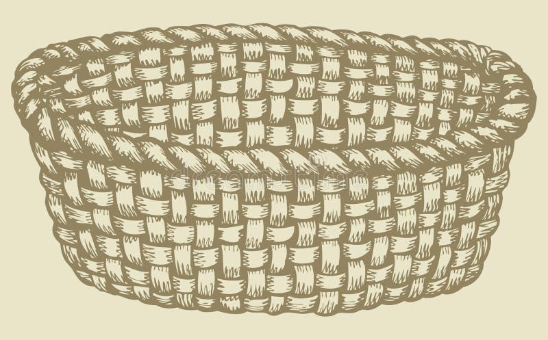 Unique Vector Picture. Empty Wicker Basket Stock Vector - Illustration of  GF54