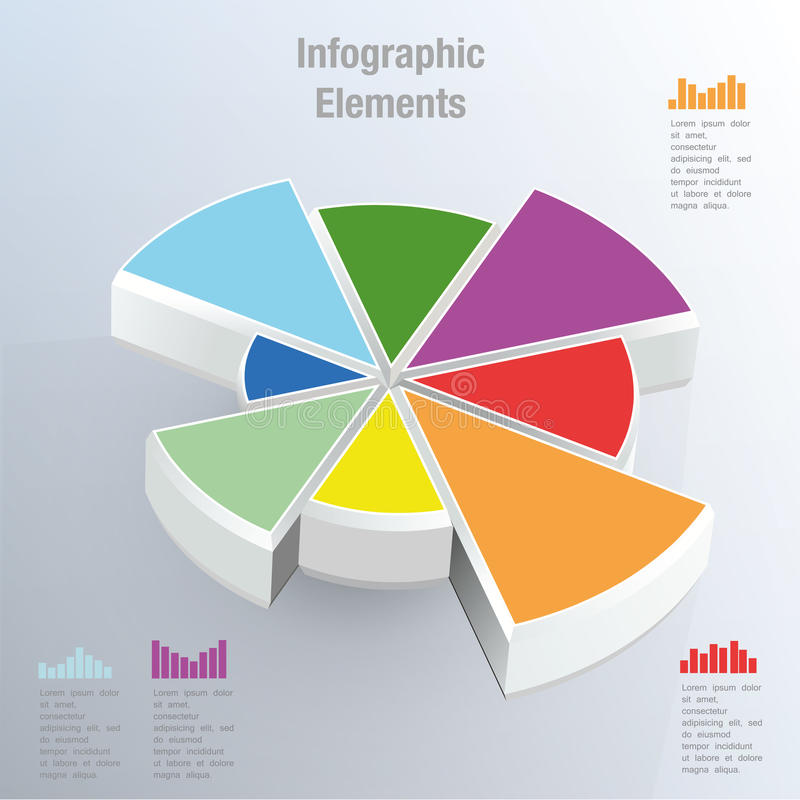 Vector pie chart royalty free illustration