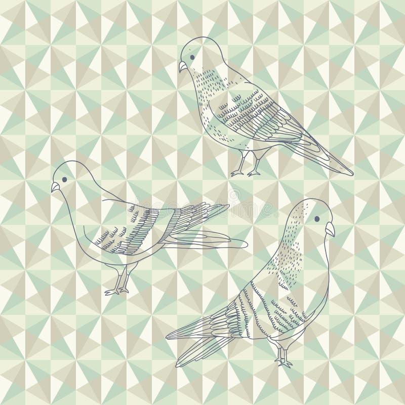 Download Vector pigeon birds stock vector. Image of design, abstract - 33978627