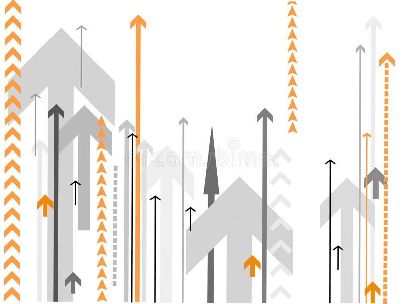 Vector pijlenachtergrond vector illustratie