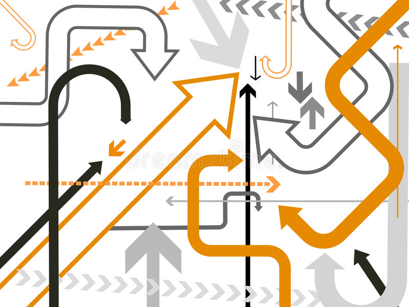 Vector pijlenachtergrond stock illustratie