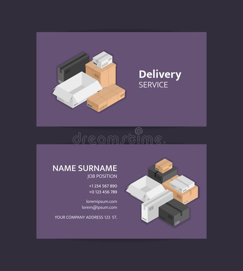 Vector pile of isometric boxes business card template black white download vector pile of isometric boxes business card template black white beige mail colourmoves