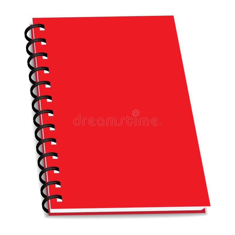 Vector a pilha de livro ou de caderno da pasta de anel isolado ilustração royalty free