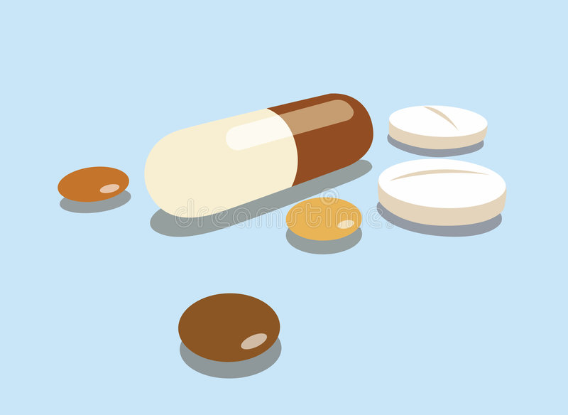 Vector pills royalty free illustration